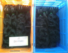 Wet and wavy indian remy hair weave no gray hair weave indian