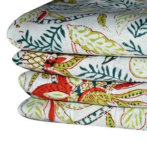 Cotton Hand Block Printed fabrics Sanganeri Jaipuri Fabric Textile / Fabric / 100% Cotton