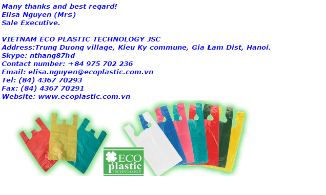 Recyclable HDPE plastic drawstring Bag on Roll for garbage ,clothes ,second hand goods shoes