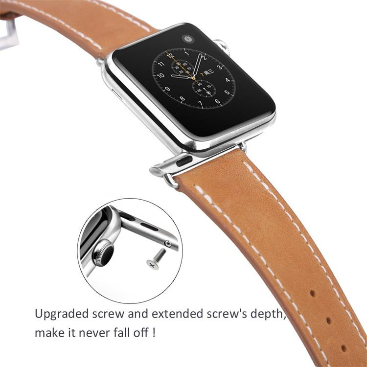 BRG 38mm 42mm Genuine leather for apple watch strap