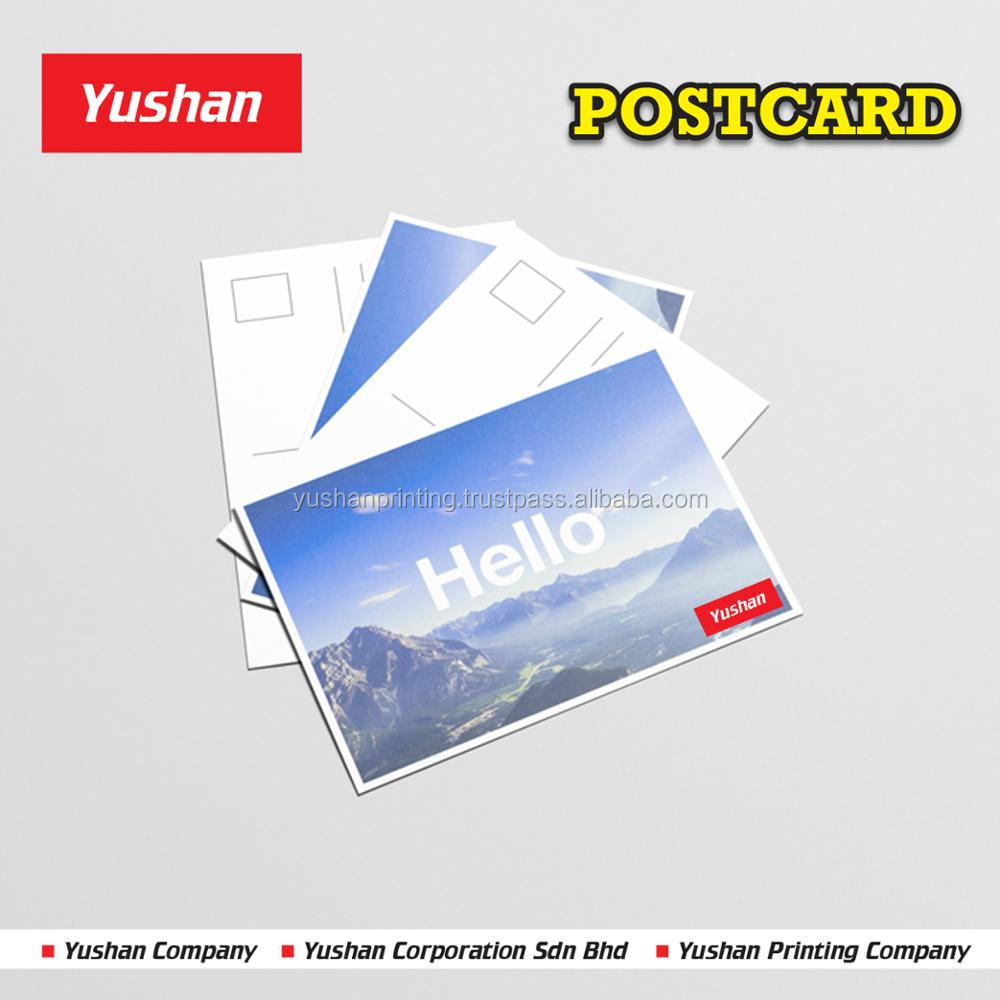 Postcard Custom Printing with Custom Images, Logo, and envelopes included