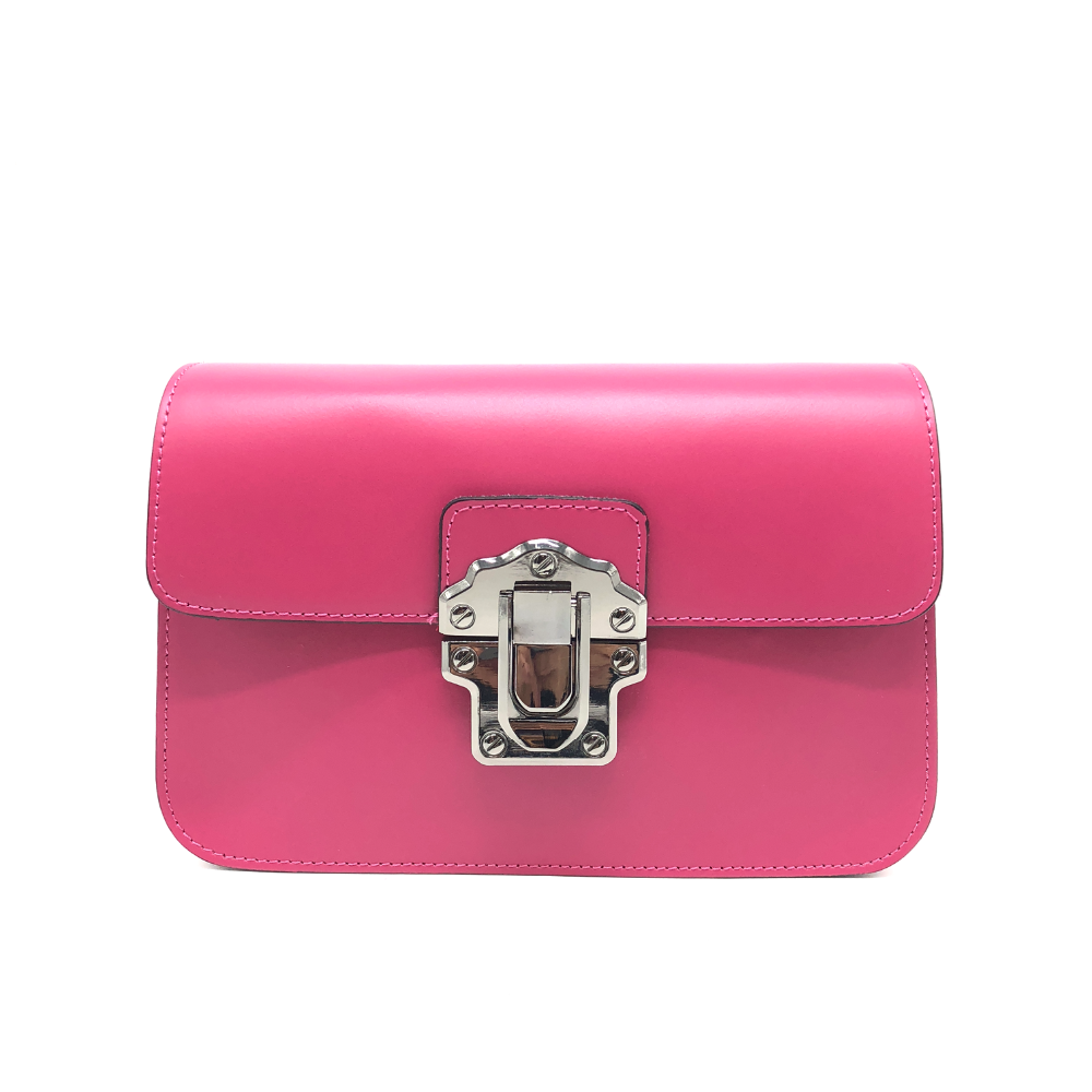 Fashionable Pure leather Clutch Bag Red Women Bags Customized with Buckle Closure