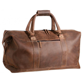 Unisex Luggage Travel PU Leather Brown