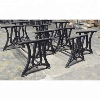 Cast Iron Dining Table Leg Pair Industrial Vintage Design