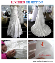 Wedding Dress Quality Control Services / Initial Product Inspection , During Production Inspection, Pre-Shipment Inspection