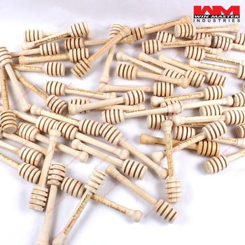 2018 12cm Mini Wooden Honey Stick Honey Dippers Party Supply Spoon Stick Honey Jar Stick