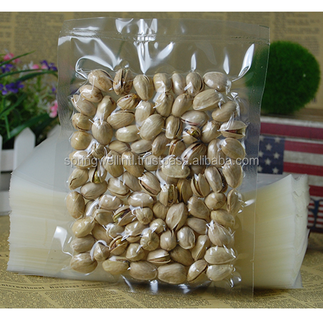 High Quality Food Grade Heat Seal Food Vacuum PE Plastic Bag For Snack