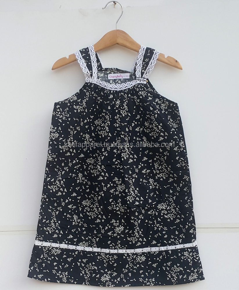 children girl cotton dress, girl tank top