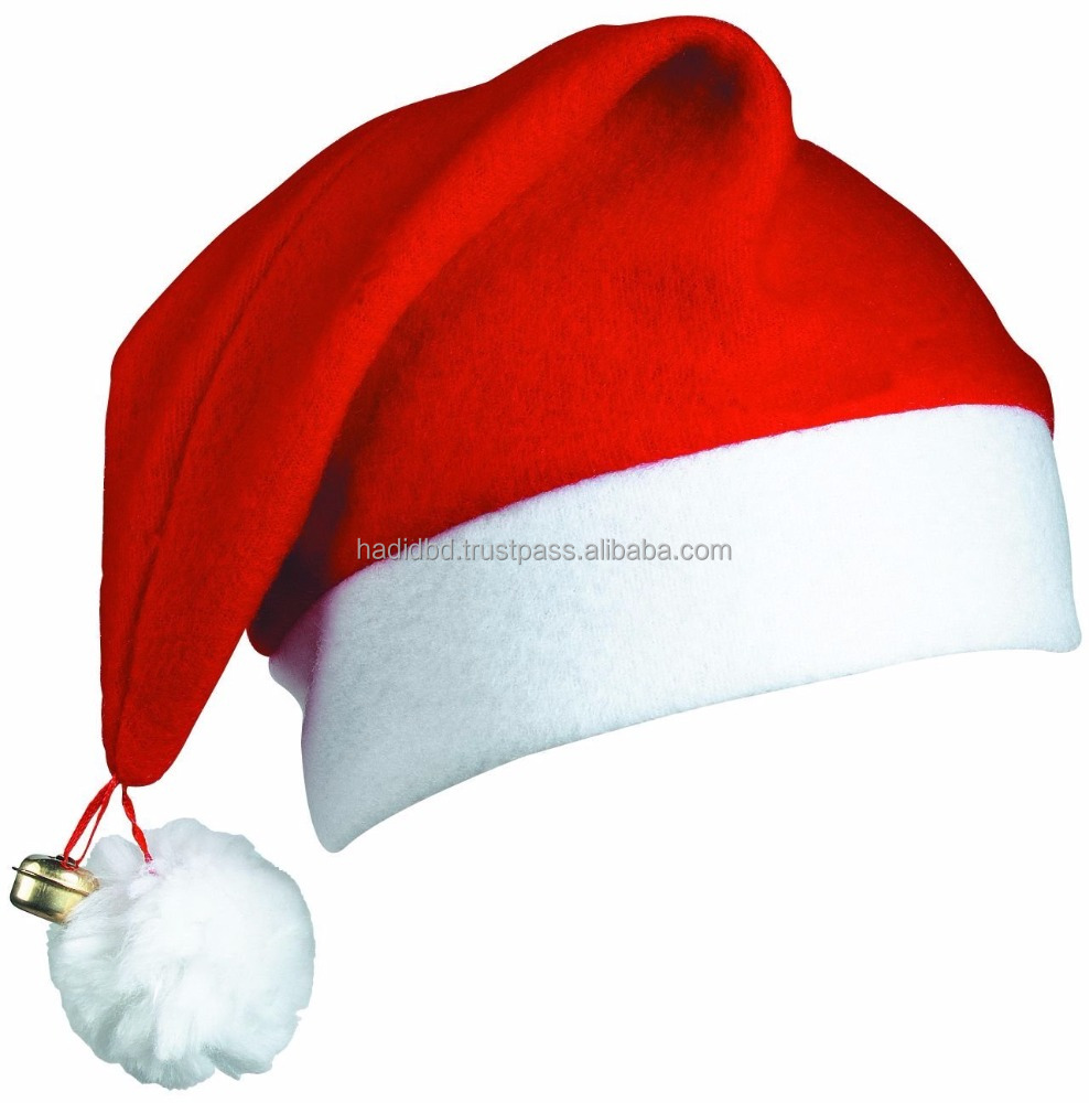 2017 Hot Sale Factory Price Custom Christmas Party Santa Cap