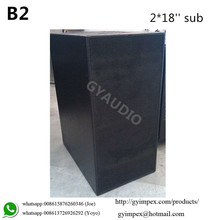 "Dual 18"" super power long throw outdoor subwoofer B2"