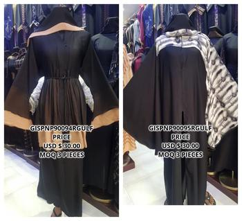 Gulf Factory Supplier High Fashion Arabische Muslim Scarf Hijab Abaya Islamic Clothing Dress Abaya Wearing With Butterfly Print