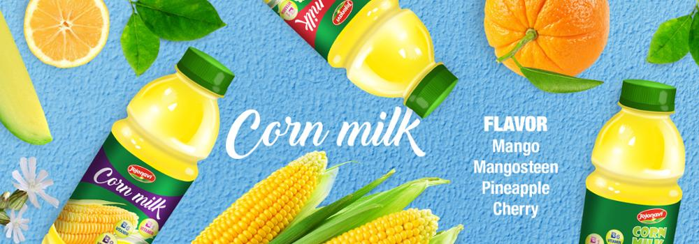 500ml PET Bottle Wholesale Corn Milk With Cherry Flavour OEM milk series