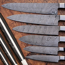 Wholesale Handmade Damascus Steel 6pcs. Kitchen Knives Set