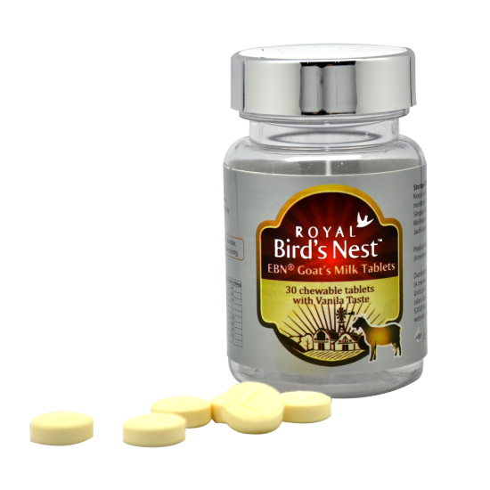 Rich in Protein and Calcium Vitamin Goat Milk Tablet with Edible Birdnest from Malaysia