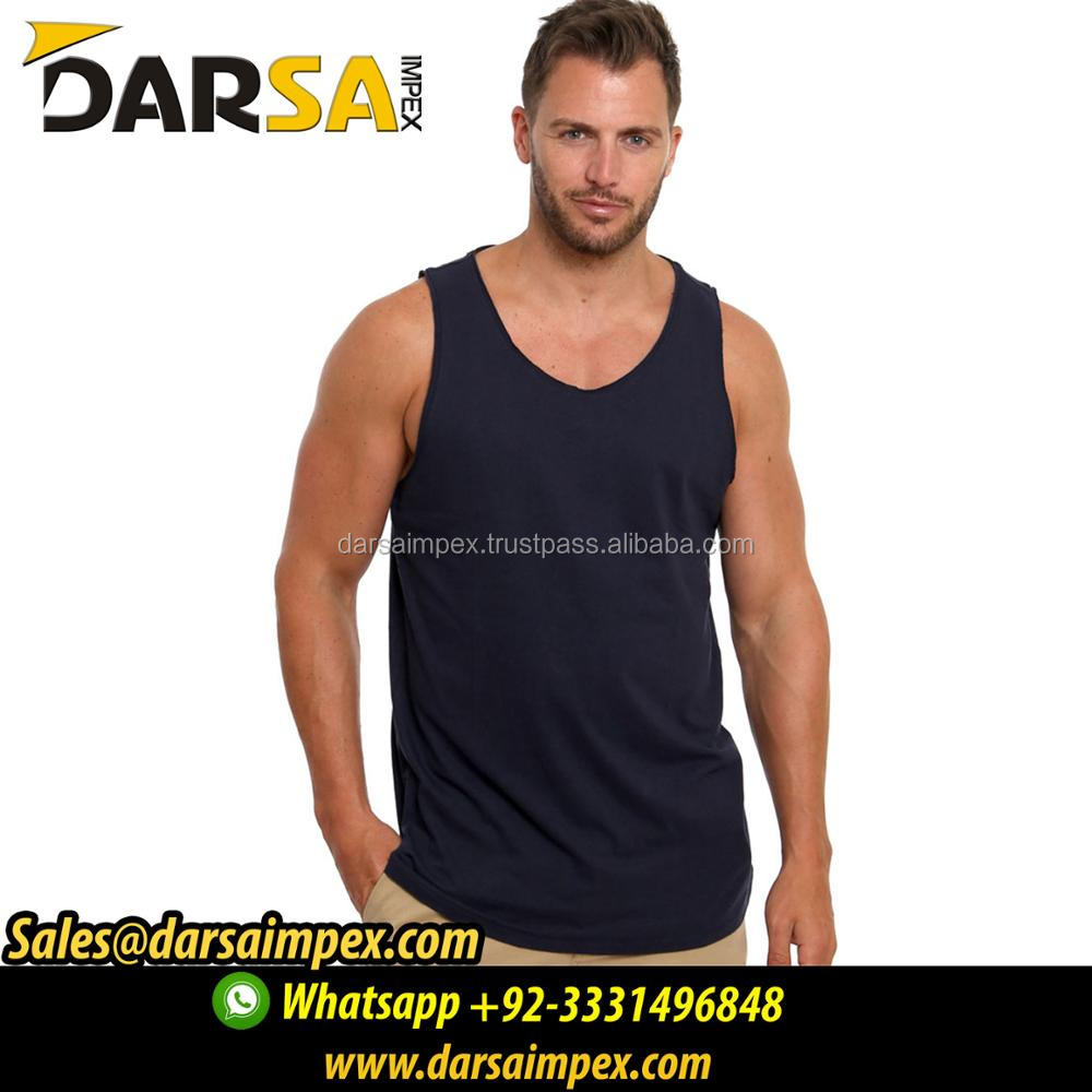 Wholesale stringer tank top custom mens gym singlet custom manufacturer