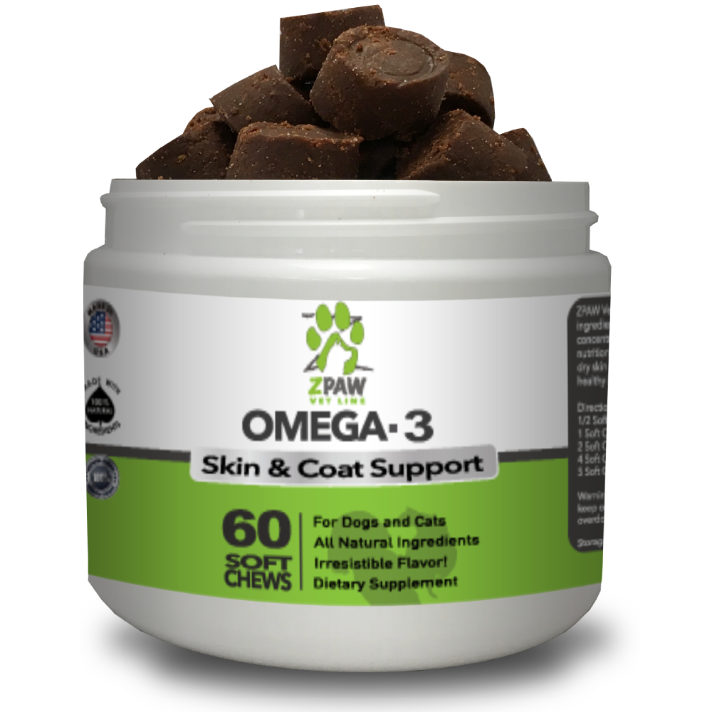 Omega 3 Fatty Acids Soft Chew / Treats For Dogs & Cats