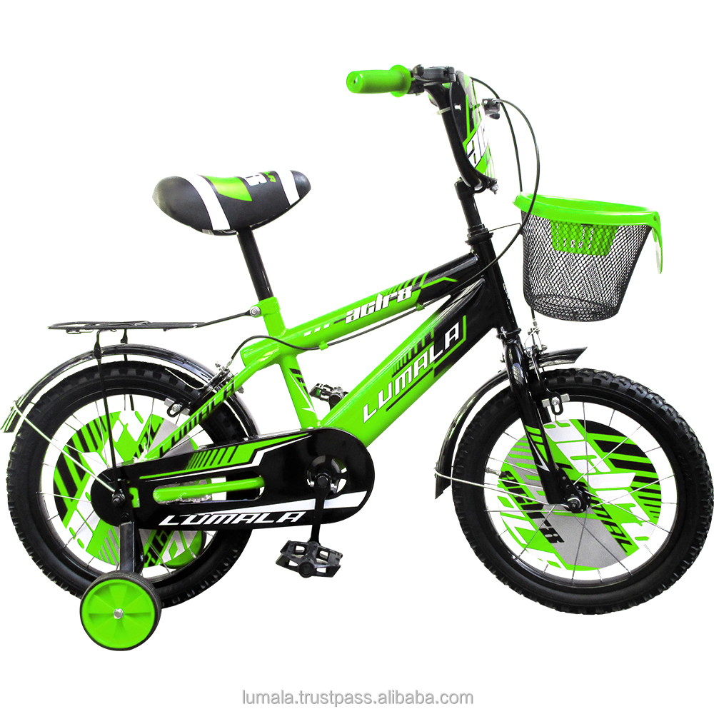 "12""/16""/20"" Childrens BMX Bicycle with Training Wheels and front Bucket Lumala ACLR8"