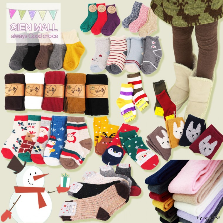 Jian / winter socks / children / infants / domestic / KC certification / booties / long herring(7415128)