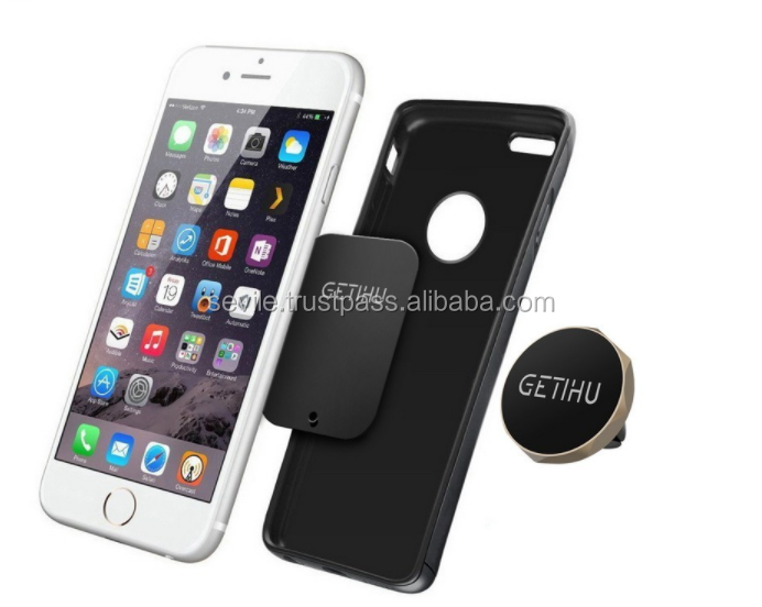 Magnetic Air Vent Mount Smartphone Dock Mobile Phone Holder PC / Cell Phone Holder Stands Mini