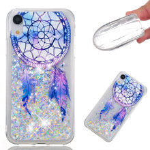 3D Quicksand Sparkle Bling Floating Liquid Clear Luxury Silicone Slim TPU Phone Case Protective Case for iphone for samsung