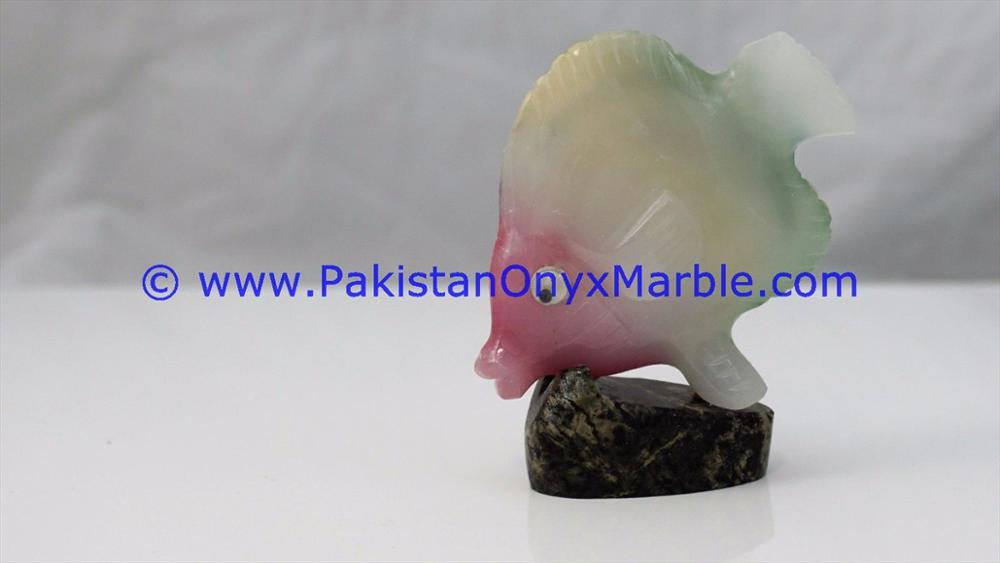 FACTORY PRICE ONYX FISHES COLORED ONYX HAND CARVED STATUE SCULPTURE FIGURINE DECORATION PIECE NATURAL STONE DECOR GIF