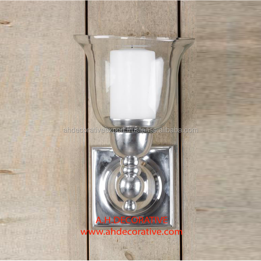 Square Wall lamp With Glass Votive Shade