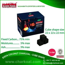 High Heat Cube Shape Hookah Charcoal with Low Ash for Sale