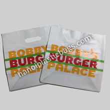 Carrier Die Cut Handle Plastic Shopping Bag With Customized Logo