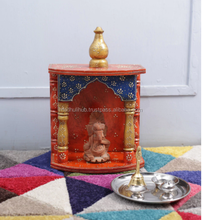 Colorful Handpainted Very Beautiful Wooden Temple Design For Home A Home Pooja Mandir