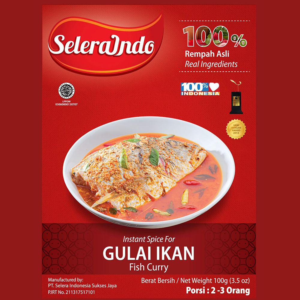 Selera Indo Fish Curry / Gulai Ikan Seasoning - Instant Spices