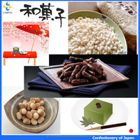 Traditional and Various types of organic japanese confectionery for light snacks