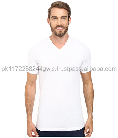 Men's gym wear 95 cotton 5 elastane slim fit t-shirt wholesale price/Top Selling Products 2017 Blank v neck T-Shirt