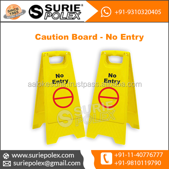 Caution Board No Entry