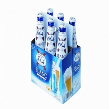 Premium Kronenbourg 1664 blanc beer in blue 25cl and 33cl