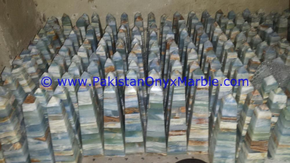 FACTORY PRODUCUNG ONYX OBELISKS HANDCARVED COLORED PATCH WORK