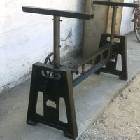 Industrial Crank Dining Table Base