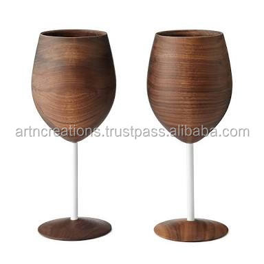 Best Price Environment Friendly Wood Wine Goblet Glasses