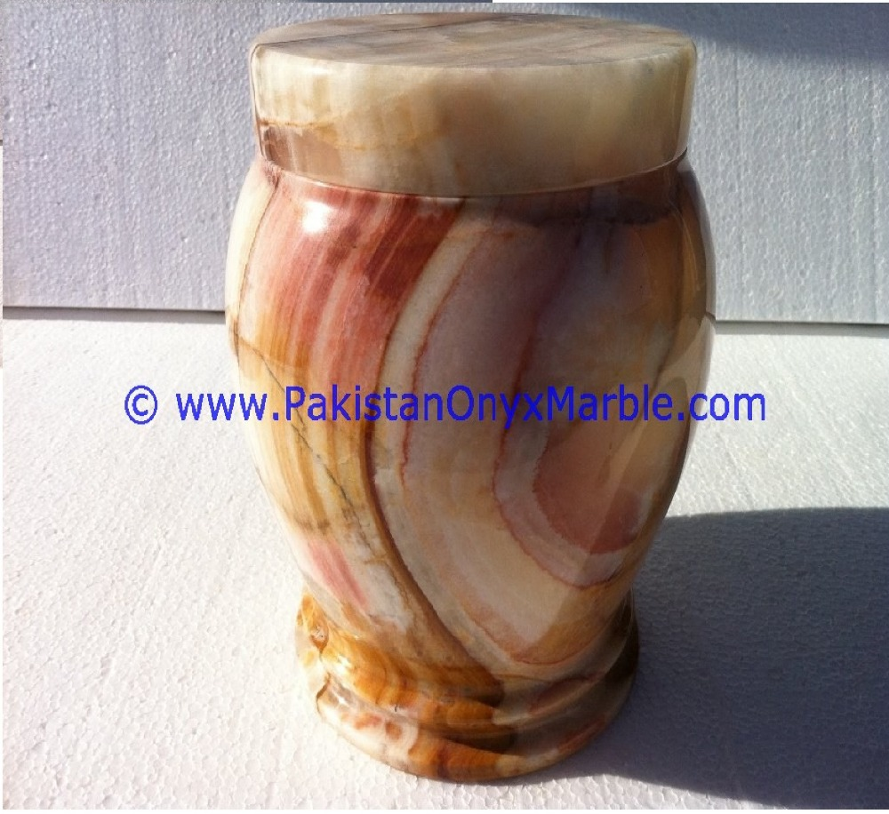REASONABLE & ACCEPTABLE PRICE ONYX JARS HANDCARVED GREEN-MULTI BROWN-WHITE