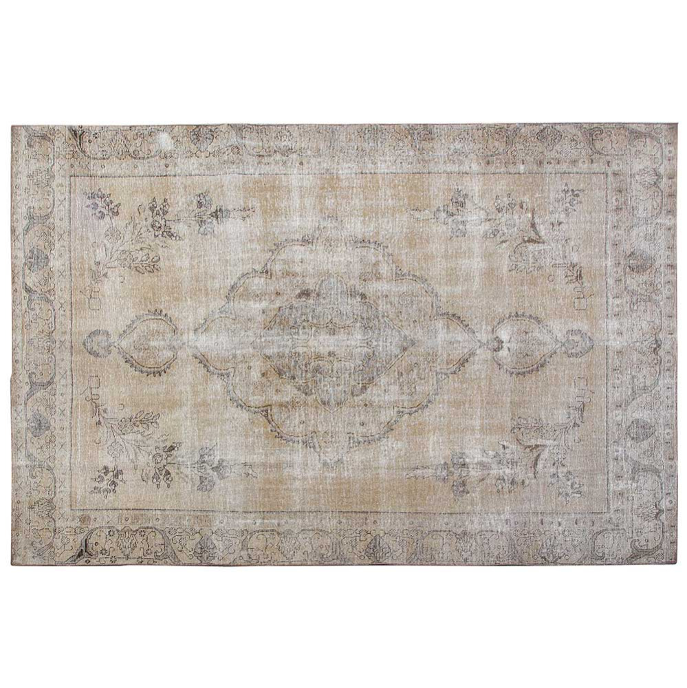 Traditional Hand Knotted Persian Rug, Floral Indoor Antique Vintage Overdyed Persian Area Rug