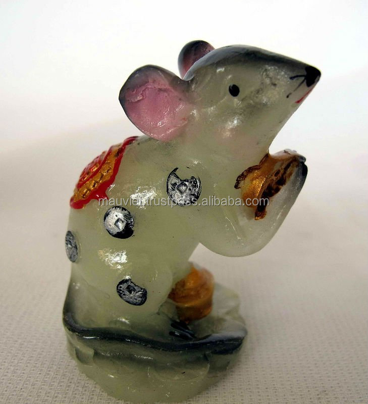 Custom polyresin mouse figurine for home decoration