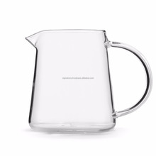 Clear Glass Tea Serving Pot Pitcher Tall Jug Decanter Fair Fairness Cup With Handle Spout Cha Hai Teaware Glassware