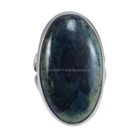 Natural 925 Sterling Silver African Gabbro