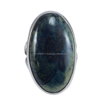 Natural 925 Sterling Silver African Gabbro Ring