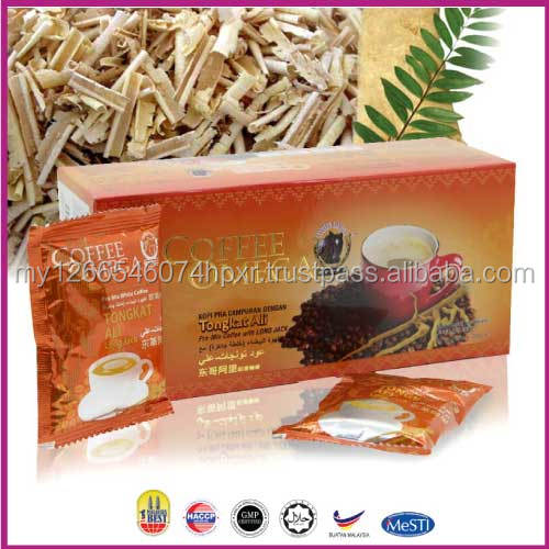 Tongkat Ali Instant white Coffee for men health OEM Malaysia