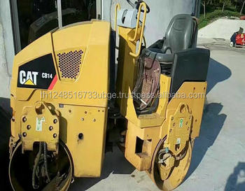 used road roller cat CB14 with low price and good working condition