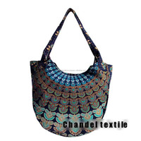 Indian-100-Cotton-Handmade-Mandala-Print-Boho-Hippie-Tote-Carry-Shoulder-Bag-050 Indian-1 Handbag And Girls shopping bag purse