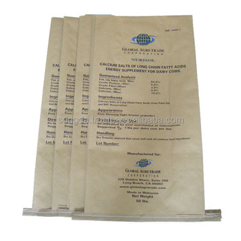 Accept custom order coated paper bag with pp woven fabric laminated