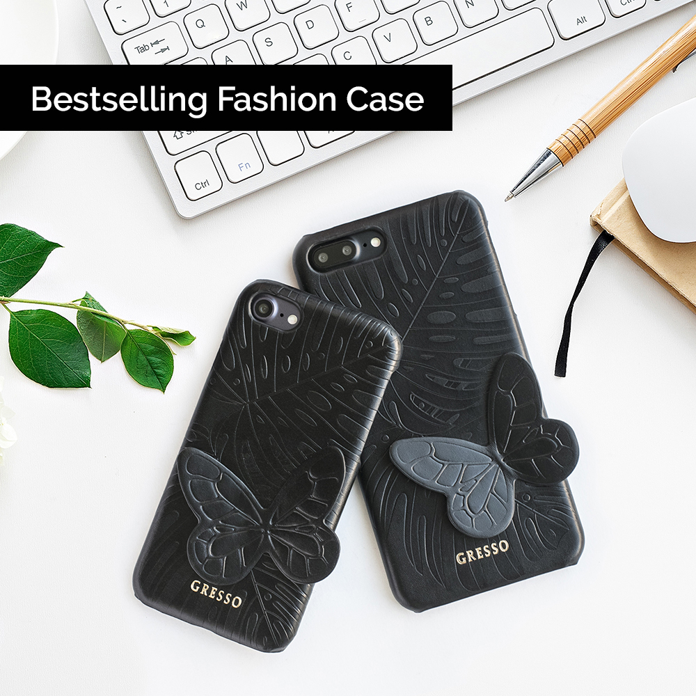 New Collection Cell Phone Real Genuine PU Leather Wallet Case for iPhone 8 7 6s 6 Plus with Fashion Design