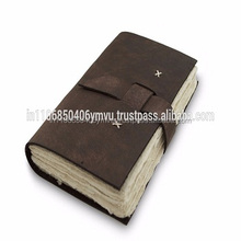 Genuine Leather Diary Journal Notebook With Rough Edges Paper
