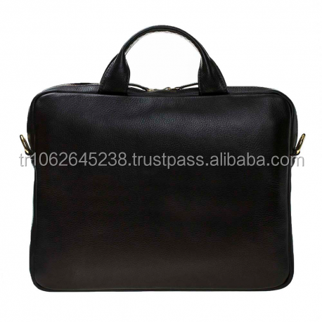 "Genuine Leather Material and 15""Size business laptop bag"
